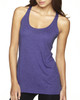 Purple Rush - 6733 Next Level Tri-Blend Racerback Tank Top | Blankclothing.ca