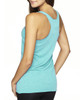 Tahiti Blue-back 6733 Next Level Tri-Blend Racerback Tank Top | Blankclothing.ca
