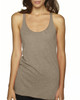Venetian Grey -6733 Next Level Tri-Blend Racerback Tank Top | Blankclothing.ca