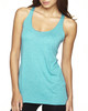 Tahiti Blue - 6733 Next Level Tri-Blend Racerback Tank Top | Blankclothing.ca