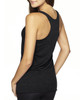 Vintage Black-back 6733 Next Level Tri-Blend Racerback Tank Top | Blankclothing.ca