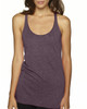Vintage Purple - 6733 Next Level Tri-Blend Racerback Tank Top | Blankclothing.ca