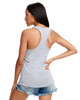 Heather Grey - Back, N1533 Next Level Ideal Racerback Tank Top | Blankclothing.ca