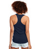 Midnight Navy - Back, N1533 Next Level Ideal Racerback Tank Top | Blankclothing.ca