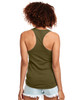 Military Green - Back, N1533 Next Level Ideal Racerback Tank Top | Blankclothing.ca