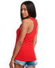 Red - Back, N1533 Next Level Ideal Racerback Tank Top | Blankclothing.ca