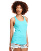 Tahiti Blue - N1533 Next Level Ideal Racerback Tank Top | Blankclothing.ca