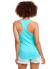 Tahiti Blue - Back, N1533 Next Level Ideal Racerback Tank Top | Blankclothing.ca