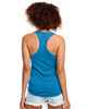 Turquoise - Back, N1533 Next Level Ideal Racerback Tank Top | Blankclothing.ca