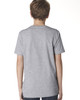 Heather Grey, back 3310 Next Level Boys' Premium Crew Tee | Blankclothing.ca