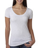 Heather White 6730 Next Level Ladies' Tri-Blend Scoop Tee | Blankclothing.ca