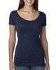Vintage Navy - 6730 Next Level Ladies' Tri-Blend Scoop Tee | Blankclothing.ca