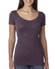 Vintage Purple 6730 Next Level Ladies' Tri-Blend Scoop Tee | Blankclothing.ca