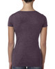 Vintage Purple, back 6730 Next Level Ladies' Tri-Blend Scoop Tee | Blankclothing.ca