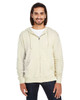 Cream  - 321Z Threadfast Unisex Triblend French Terry Full-Zip Sweater   Blankclothing.ca