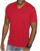 Red - 6440 Next Level Men's Premium Fitted Sueded V-Neck Tee | Blankclothing.ca
