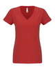 Red - N6480 Next Level Ladies Sueded V-Neck Tee | Blankclothing.ca