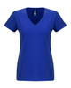 Royal - N6480 Next Level Ladies Sueded V-Neck Tee | Blankclothing.ca