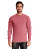 Smoked Paprika - 7451 Next Level Adult Inspired Dye Long Sleeve Crew with Pocket | Blankclothing.ca