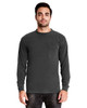 Shadow - 7451 Next Level Adult Inspired Dye Long Sleeve Crew with Pocket | Blankclothing.ca