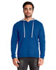 Royal/Heather Grey - 9601 Next Level Adult French Terry Zip Hoodie
