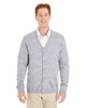 Grey Heather - M425 Harriton Men's Pilbloc™ V-Neck Button Cardigan Sweater