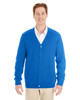 True Royal - M425 Harriton Men's Pilbloc™ V-Neck Button Cardigan Sweater