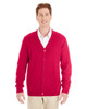 Red - M425 Harriton Men's Pilbloc™ V-Neck Button Cardigan Sweater