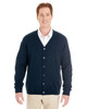 Dark Navy - M425 Harriton Men's Pilbloc™ V-Neck Button Cardigan Sweater