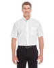 White - D620S Devon & Jones Men's Crown Collection™ Solid Broadcloth Short Sleeve Shirt | Blankclothing.ca