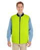Black / Safety Yellow - M776 Harriton Adult Dockside Interactive Reversible Freezer Vest