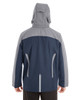 Navy/Graphite/Graphite - BACK - NE700 Ash City - North End Men's Embark Colorblock Interactive Shell Jacket with Reflective Printed Panels | Blankclothing.ca