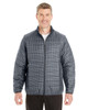 Houndstooth - FRONT - NE701 Ash City - North End Men's Portal Interactive Printed Packable Puffer Jacket | Blankclothing.ca