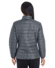 Houndstooth - BACK - NE701W Ash City - North End Ladies' Portal Interactive Printed Packable Puffer Jacket | Blankclothing.ca