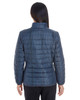 Grid - BACK - NE701W Ash City - North End Ladies' Portal Interactive Printed Packable Puffer Jacket | Blankclothing.ca