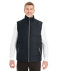 Black/Graphite - FRONT - NE702 North End Men's Engage Interactive Insulated Vest | Blankclothing.ca