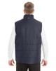 Navy/Graphite - BACK - NE702 North End Men's Engage Interactive Insulated Vest | Blankclothing.ca