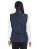 Navy/Graphite  - BACK - NE702W Ash City - North End Ladies' Engage Interactive Insulated Vest Blankclothing.ca