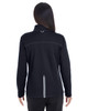 Black/Grey/Classic Red - BACK - NE703W Ash City - North End Ladies' Endeavor Interactive Performance Fleece Jacket | Blankclothing.ca