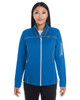 Blue/Graphite/Plate - FRONT - NE703W Ash City - North End Ladies' Endeavor Interactive Performance Fleece Jacket | Blankclothing.ca