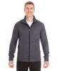 Carbon/Black - North End Men's Amplify Melange Fleece Jacket | Blankclothing.ca