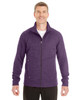 Purple/Carbon - North End Men's Amplify Melange Fleece Jacket | Blankclothing.ca