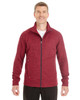 Olympic Red/Carbon - North End Men's Amplify Melange Fleece Jacket | Blankclothing.ca