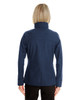 Navy - Back - NE705W Ash City - North End Ladies' Edge Soft Shell Jacket with Fold-Down Collar   Blankclothing.ca