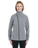 City Grey - Front - NE705W Ash City - North End Ladies' Edge Soft Shell Jacket with Fold-Down Collar | Blankclothing.ca