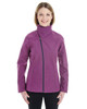 Raspberry - Front - NE705W Ash City - North End Ladies' Edge Soft Shell Jacket with Fold-Down Collar | Blankclothing.ca