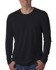 Black - N3601 Next Level Men's Premium Fitted Long Sleeve Crew Tee | Blankclothing.ca
