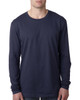 Midnight Navy - N3601 Next Level Men's Premium Fitted Long Sleeve Crew Tee   Blankclothing.ca