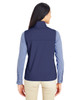 Classic Navy -Back  CE709W Ash City - Core 365 Ladies' Techno Lite Three-Layer Knit Tech-Shell Quarter-Zip Vest | Blankclothing.ca