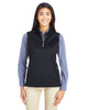 Black - CE709W Ash City - Core 365 Ladies' Techno Lite Three-Layer Knit Tech-Shell Quarter-Zip Vest | Blankclothing.ca